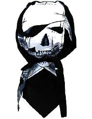 Bandana de motard rocker cap (noir/blanc)