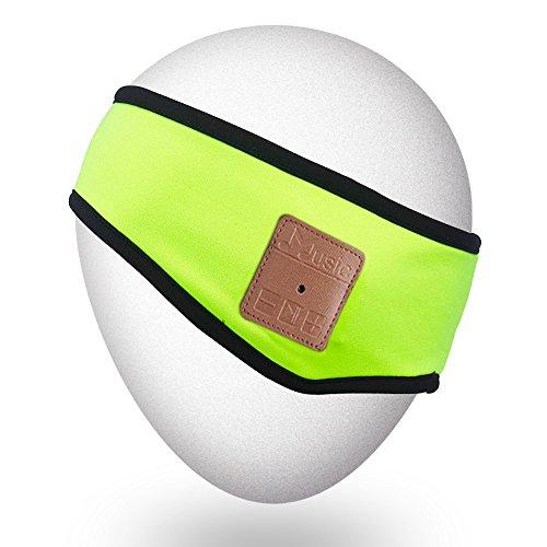 Mydeal Trendy Sporty Bluetooth Stirnband mit drahtloser Kopfhörer-Stereo-Lautsprecher Freies Mic Hände für Gymnastik-Eignung-Übung Laufen Jogging Wandern Skifahren Snowboard, Weihnachtsgeschenk - Grün - Mp3 Snowboard