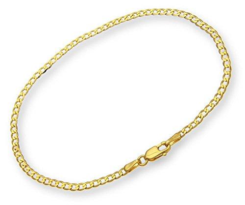 Gourmette Bracelet/14carats 585Bracelet Chaîne maille gourmette or jaune largeur 3mm