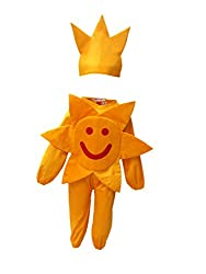 KFD Kids Smily Sun Nature Costume & Fancy Dress