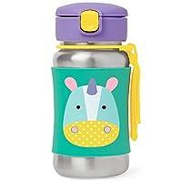 زجاجة رضاعة بمصاص معزولة من الستانلس ستيل للاطفال للاستخدام اثناء التنقل من سكيب هوب بيبي زو، 12 اونصة