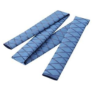LIOOBO Fishing Rod Sleeve Wrap Tubing Protective Polyolefin Heat-Shrink Non-Slip Rod Handle Sleeve Cover (Red)