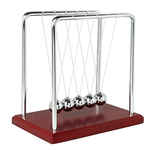 Jukub newton culla equilibrio palle fisica pendolo scienza scrivania ufficio classico giocattolo 17.5 * 15cm
