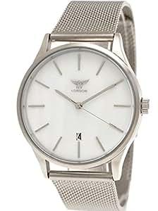 Elegante NY London Designer da donna orologio da uomo orologio Milanaise Orologio da polso unisex analogico classico orologio al quarzo con datario Bianco Argento