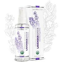 Alteya Organic Agua Floral de Lavanda 100 ml Spray – Antiséptico y Antiinflamatorio - Producto Orgánico con Certificado USDA, Destilado al Vapor de Flores de Lavandula Angustifolia Búlgara y Vendido por el Propio Cultivador y Destilador Alteya Organics