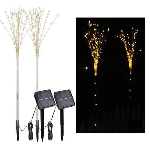2 Paket solar Feuerwerk Baum Lichter mit licht Sensor 100-leds DIY Form warmweiß Garten dekorative Rasen licht Pathway Lampe -