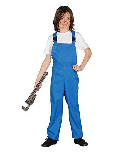 Imagen de disfraz de mono trabajo azul mecánico
