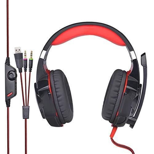 Mzq-yq 3.5mm con conexión de Cable, Orejeras Grandes, 50 mm de diámetro, Altavoz, computadora de Escritorio, Juego de música, subwoofer con micrófono, Auriculares