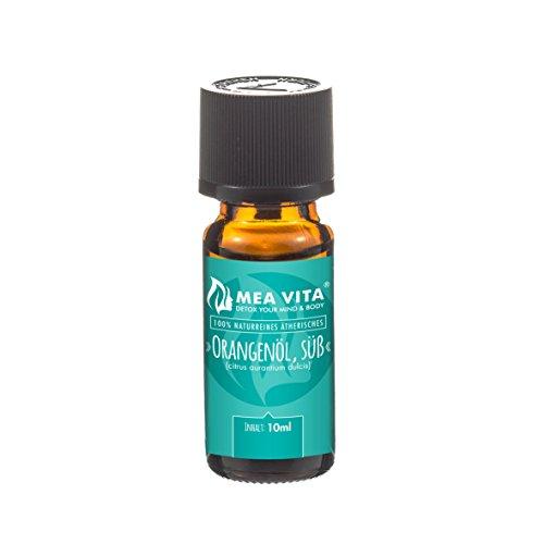 MeaVita Orangenöl - 100% naturreines ätherisches Öl, Premium Qualität, 1er Pack (1 x 10 ml) (Rose Geranie ätherisches öl)