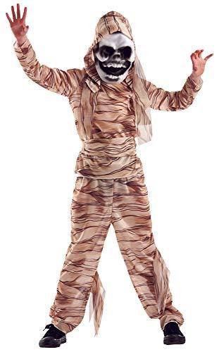 Foxxeo Mumie Kostüm für Kinder Halloween Mumien Kostüme für Jungen Fasching Karneval Größe 158-164