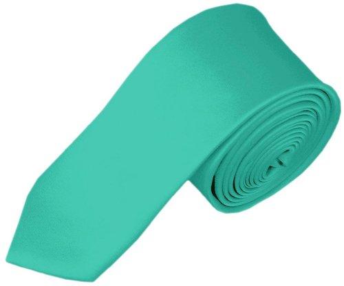 NYFASHION101 Cravate pour enfant de 121,9 cm à couleur unie Aqua