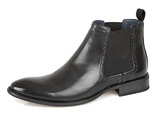 Scarpe da uomo formali mocassini di cuoio da ufficio o matrimonio neri o marroni - sintetico e cuoio, eu 41.5, nero