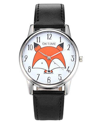 jsdde-uhrenfashion-cute-cartoon-orange-kleine-fuchs-kopf-armbanduhr-damen-uhr-lederarmband-analog-qu