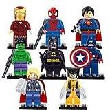 marvel minifigures x 8 marvel avengers mini figures brand new