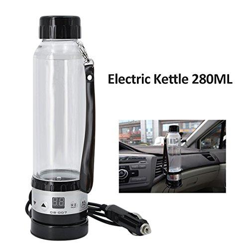 JOYOOO Elektrischer Wasserkocher Reisewasserkocher Auto 12V Zigarettenanzünder, smart wasserkocher Reise Becher Kaffeetasse 280ML,einfach zu bedienen schnelles Heizwasser.