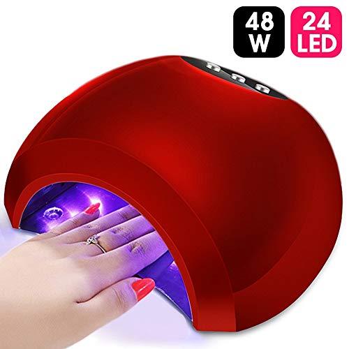 GUFS Secador de uñas Lámpara UV UV de 48W Lámpara LED de uñas Lámpara de alta potencia Todo para uñas Todo el gel Polaco Secador de uñas Sensor Sun Led Light Nail Art Manicure Tools