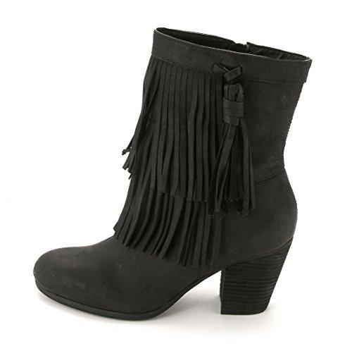 BO-CSL, Western Stiefel Mujeres, Geschlossener Zeh, Leder, Groesse 7 US /38 EU (Western Stiefel Für Frauen Größe 7)