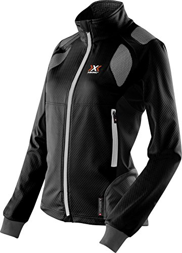 X-Bionic Damen Ski Touring Light Lady OW Jacket Jacke, Black/Anthracite, L (Touring Ski Ski)