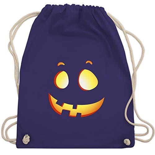 Halloween - süßer Halloween-Kuerbis Kinder - Unisize - Lila - WM110 - Turnbeutel & Gym ()