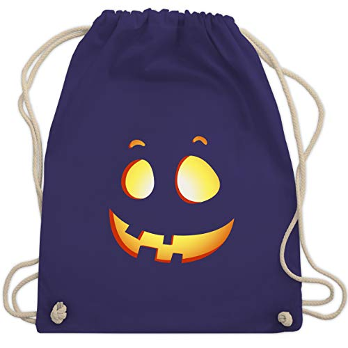Halloween - süßer Halloween-Kuerbis Kinder - Unisize - Lila - WM110 - Turnbeutel & Gym Bag