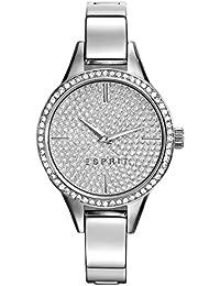 Esprit Damen Armbanduhr Datum klassisch Quarz Edelstahl ES109062001