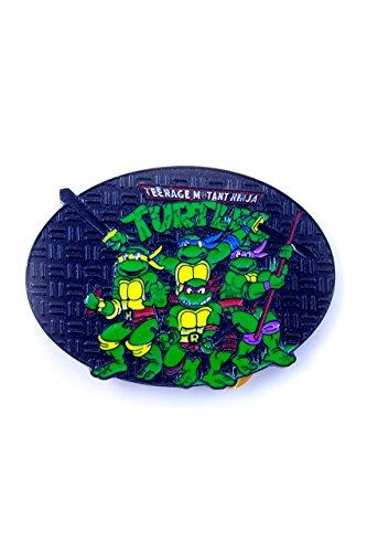 Teenage Mutant Ninja Turtles, 4 Turtles Fighting Pose Buckle inkl. (Teenage Passt Mutant Ninja Turtles)