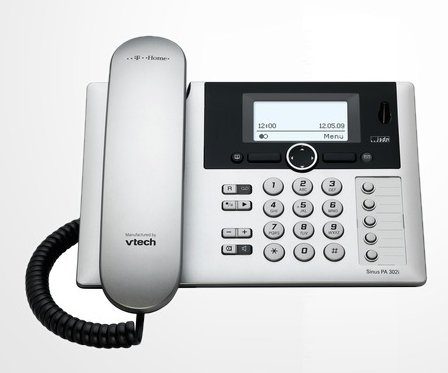 T-COM T-Home T-Sinus PA302i ISDN Tischbasisstation Basis OHNE Mobilteil in silber