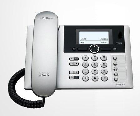 T-COM T-Home T-Sinus PA302i ISDN Tischbasisstation Basis OHNE Mobilteil in silber