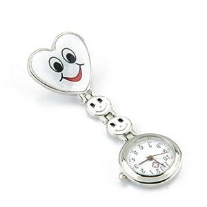 Hrph Rokoo Krankenschwester Armbanduhr reizendes Herz-Lächeln-Gesicht mit Medical Nurses Mode-Quarz-Uhren