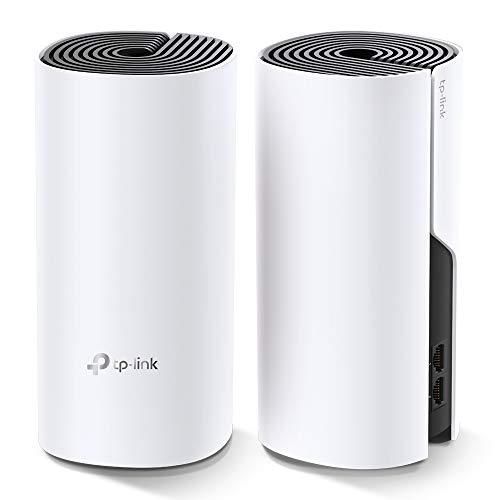 TP-Link Deco E4(2-pack) Systèmes WiFi Mesh rapide pour toute la maison - Couverture WiFi de 260m2 - Installation Facile - Contrôle parental - Compatible avec toutes les Box Internet