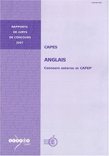 CAPES anglais : Concours externe et CAFEP