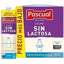 Pascual Leche Sin Lactosa Semidesnatada - Paquete de 6 x 1 l - Total: 6