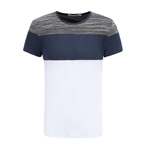 �nner Plus Size Tops Splicing Shirt Kurzarm Bluse GreatestPAK,Weiß,L (Plus Size Herren Kostüme)