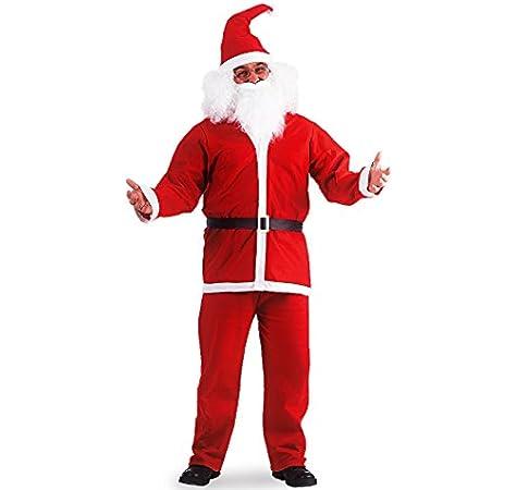 8 PEZZI Professional Adulti Costume Da Babbo Natale Peluche Costume Natale Vestito Da
