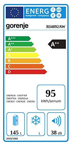 GORENJE 352782 Kühlschrank Einbau/A++ / 87.5 cm 95 kWh/Jahr /145 L Kühlteil/Innenbeleuchtung, Behälter für Obst/Gemüse/Ohne Gefrierfach/weiß