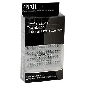 Ardell False Eyelashes 6 Pack Duralash Naturals Short Black Individual Lashes