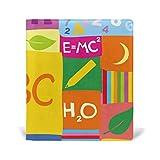 mydaily Colorful ABC Mathematische Chemie Doodle Kinder wiederverwendbar Leder Buch 22,9x 27,9cm für mittlere bis Größe Jumbo Hardcover Schulbücher lehrbüchern.
