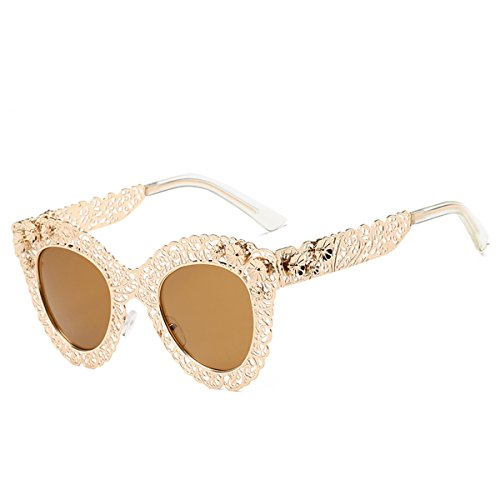 Katzenaugen-Sonnenbrille für Frauen Mode Retro dekorative Sonnenbrille Lace Lace Sonnenbrille (Farbe : C)