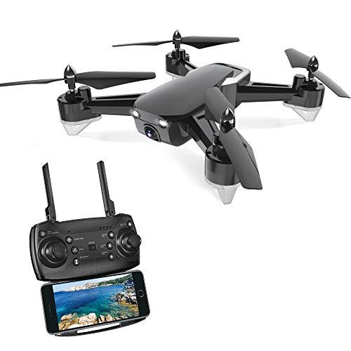 WANGKM RC Drone, 1280 * 720 P FHD Telecamera FPV Live Video, Funzione di Ritorno GPS Home, Quadricottero RC, Seguimi, Altitude Hold, One Key Decollo/Atterraggio, per Principianti Bambini Adulti,Black