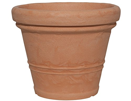 Testrut Pflanztopf, Kunststoff, rund, Terrakottaoptik, Erdvolumen ca. 19 l, Durchmesser ca. 40 cm, Höhe ca. 32 cm