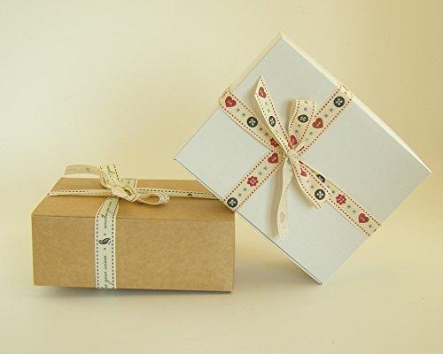 Preisvergleich Produktbild Geschenke Karton Box, 10 x Selbst Zusammenbaubar ( Code #C ) Verwendbar für Schokolade, Schmuck, Kleine Geschenke