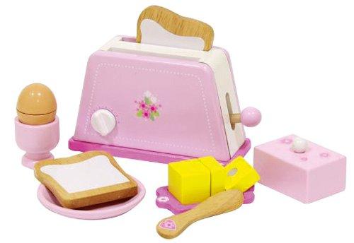 402Holz Toaster mit Zubehör, Pink ()