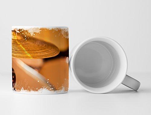 Eau Zone Fotokunst Tasse Geschenk Künstlerische Fotografie – Ausschnitt Eines Drumsets
