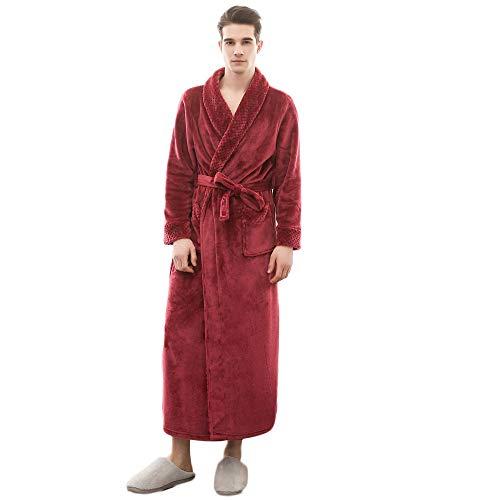 Lange oder extra Lange Damen und Herren Bademäntel aus 100% Bio Baumwolle mit Kapuze in 5 Farben, S bis XXXXL Farbe anthrazit 125 cm, Grösse 3XL