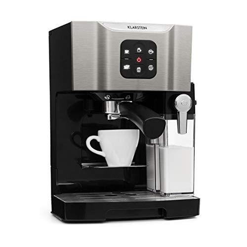 Klarstein BellaVita • Kaffeemaschine • 3-in-1 Funktion für Espresso, Cappuccino und Latte...