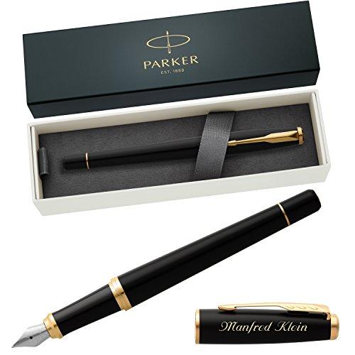 PARKER Füllfederhalter URBAN Muted Black G.C. 1931601 mit persönlicher Laser-Gravur