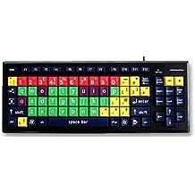 Teclado de Aprendizaje USB con Teclas Extragrandes para Niños / Aprendizaje Temprano de Las Teclas en