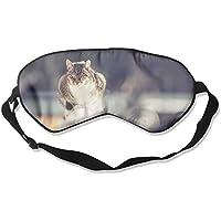 Eye Mask Eyeshade Cat On Fence Sleeping Mask Blindfold Eyepatch Adjustable Head Strap preisvergleich bei billige-tabletten.eu