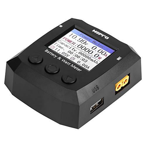 Batterietester, 3 Tasten Wattmeter Batterien Tester Waagenentladung für Rcharlance M8Pro 1-8S LiPo-Batterie -