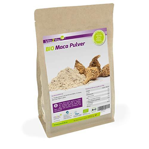 Maca Pulver 1kg - Bio Qualität - Maca-Wurzel - Zippbeutel - Premium Qualität